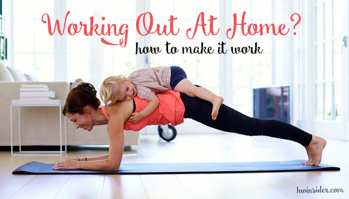 get in shape working out at home