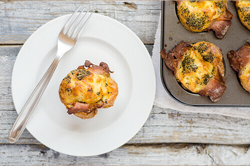 bacon egg breakfast muffins